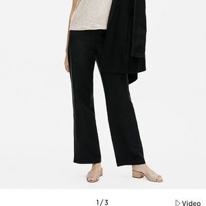 Eileen Fisher Tencel & Organic Linen Slub Straight